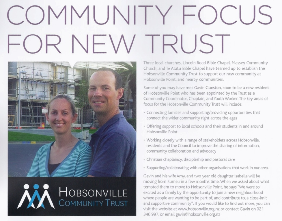HLC Community Trust Article May 2013